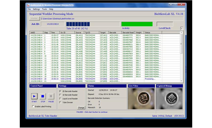 Tube handling - software | AltemisLab